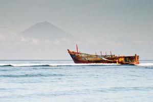Schiffswrack in Gili Trawangan foto