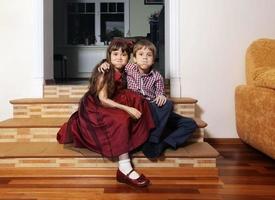 Bruder und Schwester foto