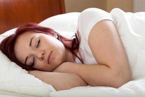 schlafende Frau foto