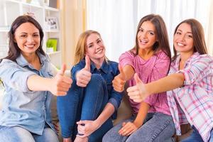 Gruppe von Mädchen foto