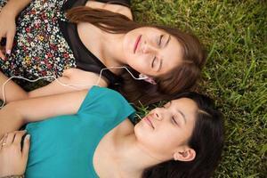 Entspannen und Musik hören foto