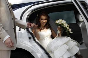 Porträt einer hübschen Braut foto
