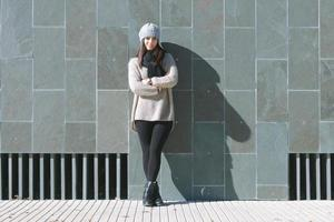 Frau und Schatten foto