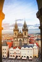 Kirche unserer Dame vor Tyn in Prag, Tschechische Republik. foto