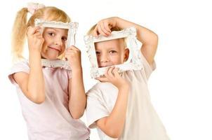 Junge und Mädchen foto
