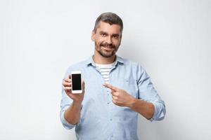 Konzept für Mann mit Bart foto