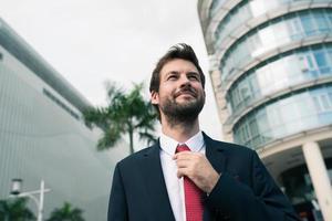 stilvoller Geschäftsmann foto
