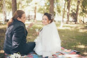 frisch verheiratet foto