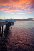 Venedig Pier in lila foto