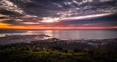 Abend in der Bucht von Trieste foto