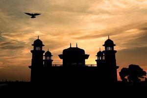 Silhouette von itmad-ud-daulahs Grab (Baby Taj oder die Schmuckschatulle) foto