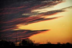 Sonnenaufgang in selimiye Wolken foto