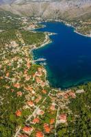Zaton Lagune in der Nähe von Dubrovnik foto