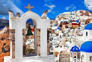 einzigartige Santorini foto
