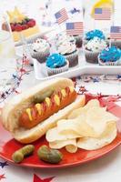 4. Juli Party Tisch foto