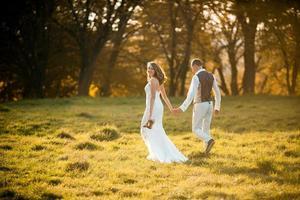 schönes Paar zu Fuß foto
