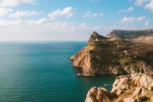 die Krimhalbinsel der Balaklava-Bucht foto