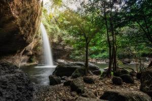 natürlicher haew suwat wasserfall, thailand foto
