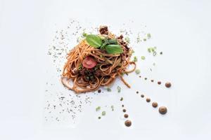 Rindfleisch Bolognese Pasta foto