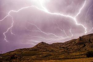 Blitzschlag am Himmel foto