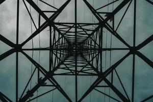 Flachwinkelansicht des Turms foto