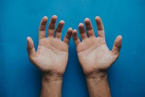 Nahaufnahme der Hände foto