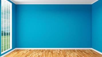 leerer Raum mit blauen Wänden