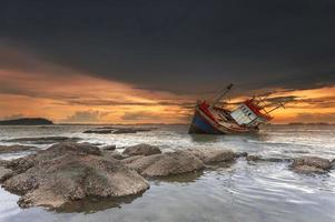 Schiffbruch in Chonburi, Thailand
