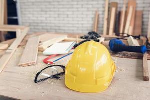 Tischlerwerkzeuge und -ausrüstung foto