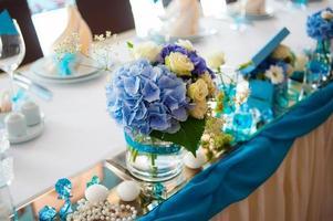 dekorierte Restauranttische foto