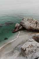 launische felsige Küste foto