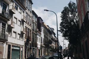 Stadtbildansicht der Straßenlaterne