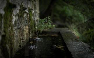 Wassertropfen auf Betonwand foto