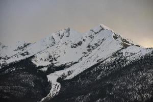 schneebedeckter Berg foto