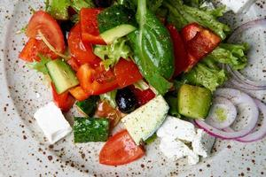 gesunder gemischter Salat foto
