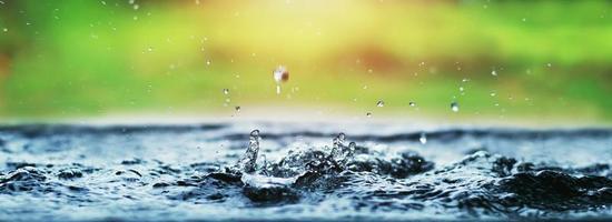 Wassertropfen spritzen über