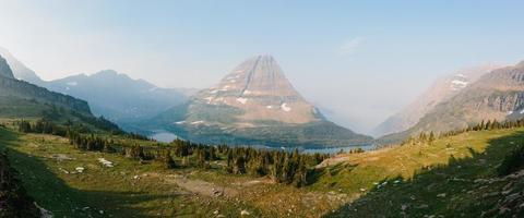 Panorama des Gletschernationalparks foto