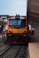 Zug im Bahnhof foto