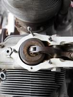 mechanische Teile des alten Motors foto