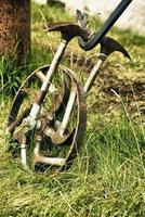 Fahrradrad mit Hammerspeichen foto