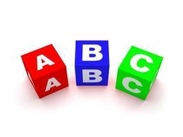 ABC-Blöcke isoliert auf Weiß