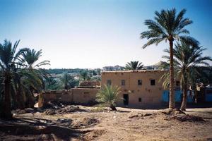 ländliche Stadt der Dritten Welt in Ägypten foto