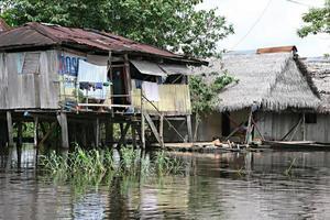 Häuser in Belen - Peru foto