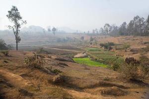 dunstiger Morgen, zentrales Madagaskar foto