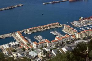 Gibraltar. Blick auf die Yachten