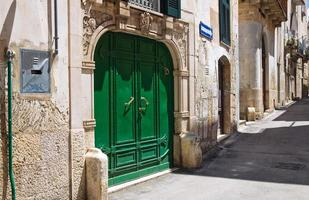 Gasse. Altamura. Apulien. Italien. foto