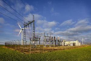 Stromübertragungsstation, Polen foto