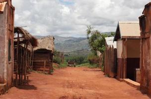 kleines Dorf in Madagaskar foto