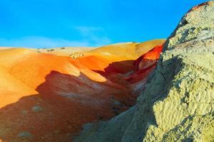 Farbboden von Quecksilberablagerungen im Altai
