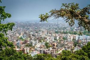Luftaufnahme von Kathmandu foto